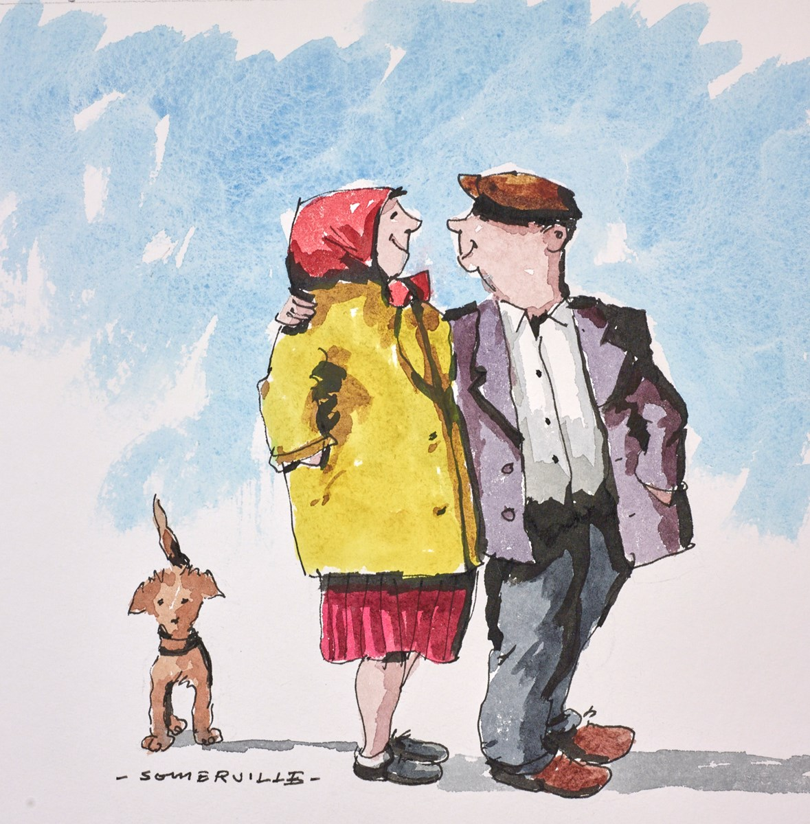 Our Life of Love III by george somerville -  sized 8x8 inches. Available from Whitewall Galleries